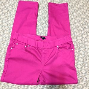 Pink ankle pants size 12